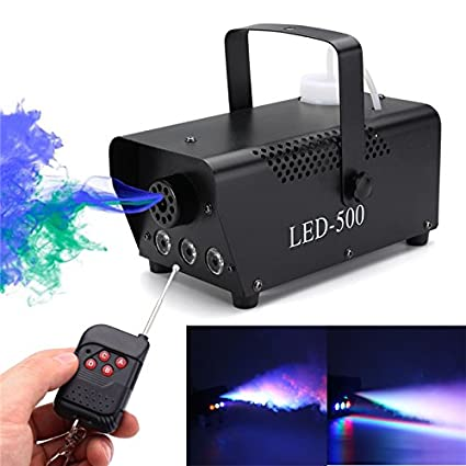 Led Fog Machine 1500w Rgb Color 3 In1 12*3w Led Lamp Led Smoke Machine Dmx 512 Controller 8 Minutes Heater Stage Lighting Effect