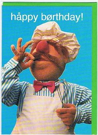 Muppets Swedish Chef Happy Birthday Greetings Card Mu41