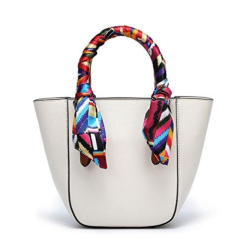 Spring 9 26 Bag Handbag Single 18Cm Female Summer Bag White Bucket Bag Shoulder Shoulder amp;QIUMEI OME 7H0OqIn