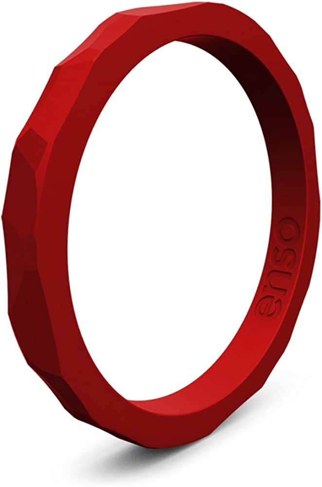 Enso Rings Hammered Stackable Silicone Ring | Premium Fashion Forward Silicone Ring | Hypoallergenic Medical Grade Silicone | Lifetime Quality Guarantee | Commit to What You Love