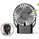 Mini Handheld Fan - Super Quiet, Up to 10 Hours, Portable Fan, Desk Desktop Table Cooling Fan with USB Rechargeable Electric Fan for Car Office Room Outdoor Household Traveling