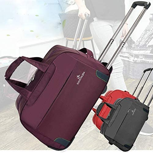 Color : Red, Size : Large Minmin-lgx Luggage Bag Male Trolley Bag Female Hand Bag Travel Bag Europe and America Short Travel Bag Bag Chassis Bag Folding Large Capacity