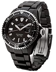 DETOMASO Men's DT1025-E SAN REMO Automatic Divers Watch  Classic schwarz/schwarz Analog Display Japanese Automatic Black Watch