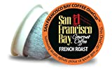 San Francisco Bay OneCup French Roast (36 Count) Single Serve Coffee Compatible w/Keurig K-cup Brewers Single Serve Coffee Pods, Compatible with Keurig, Cuisinart, Bunn, iCoffee single serve brewers