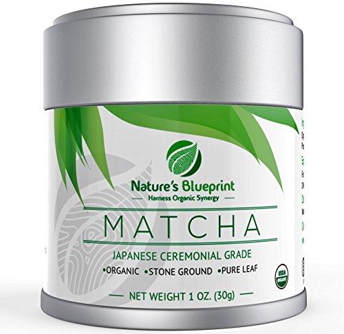 Nature's Blueprint Organic Japanese Matcha Green Tea Powder (1 oz Tin) - Ceremonial Grade