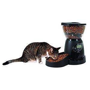 Aspen Pet Lebistro Programmable Cat and Dog Feeder 2 Sizes Black