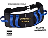 Gait Belt, Transfer Belt with Quick-Release Buckle. 6 Handles for Better Access, Secure Grip. New Improved Wide Design Provides Greater Comfort and Security During Walking / Transfers.