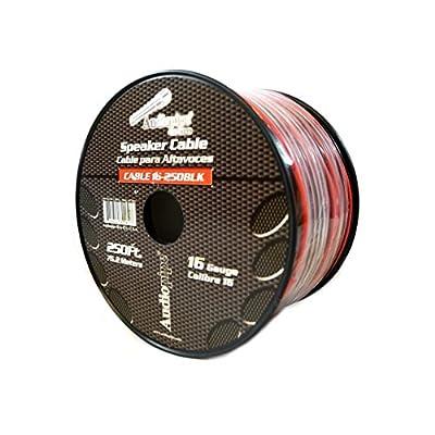 16 Gauge 250' Feet Red Black Speaker Wire Stranded Copper Clad Home Audio Sound: Automotive
