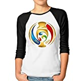 Yesher Women's Men's Association Football 3/4 Sleeve Athletic Jersey -