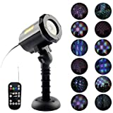 LED Projector Light, Imbeang 18 Patterns Christmas Projector Light in 3 Modes,House Garden Spotlight with Wireless Remote Control for Outdoor Indoor Halloween Christmas Party Holiday Decoration