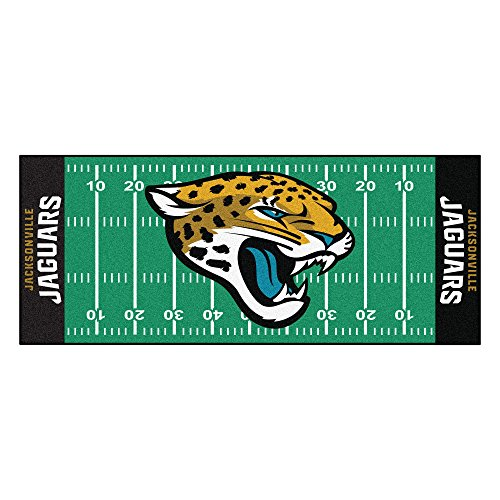 FANMATS NFL Jacksonville Jaguars Nylon Face Football Field Runner