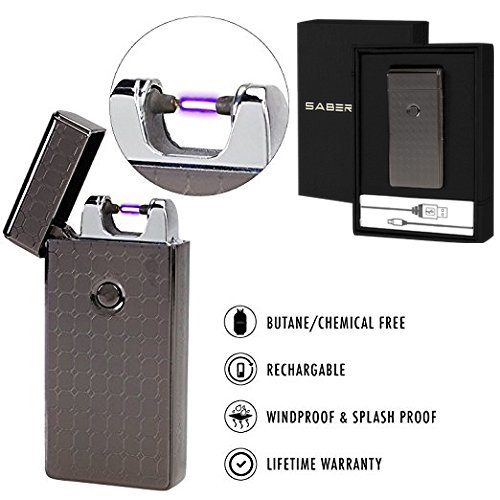 Price comparison product image SaberLight - Revolutionary Flameless Plasma Beam Lighter - Rechargeable - Airport Safe - Butane Free - Flameless - Splash Proof - Windproof - No Harmful Chemicals - Lifetime Warranty (1 Pack)