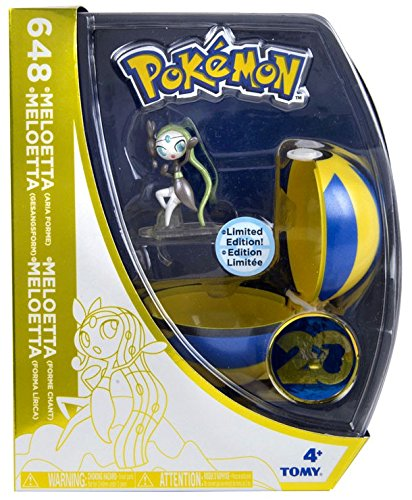 TOMY 20th Anniversary Clip n Carry Pokeball Meloetta with Quick Ball Figure Set [20th Anniversary] (20th Anniversary Figure)