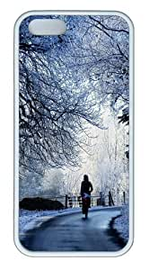 Apple iPhone 5S Cases - Winter Road Scene TPU Case Cover for iPhone 5S and iPhone 5 - White