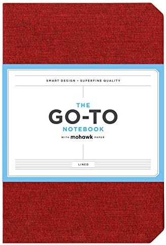Go-to Notebook with Mohawk Paper, Brick Red Lined (Simple Lined Page Notebook, Lay Flat Productivity Journal)