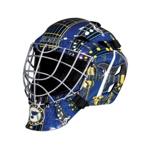 (St. Louis Blues NHL Full Size Youth Goalie Hockey Mask - New with Tags - Not for Competitive Play)