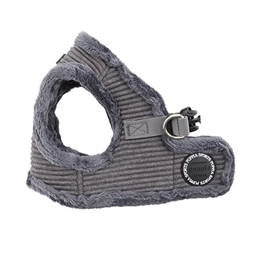 Puppia Troy Harness-B for Pets, Mélange Grey, Large