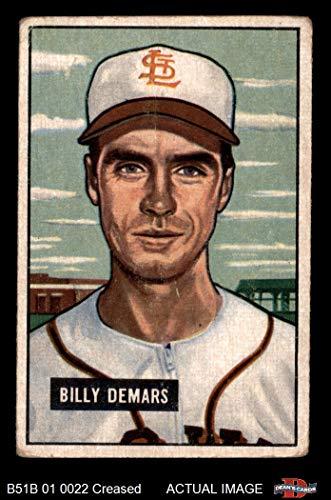 1951 Bowman # 43 Billy DeMars St. Louis Browns (Baseball Card) Dean's Cards 3 - VG Browns - Louis Browns Baseball Card