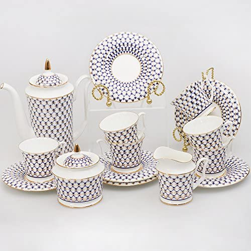Imperial Porcelain 15-Piece Coffee Set for 6 Persons Cobalt Net