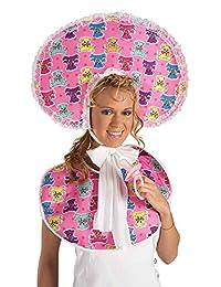 Forum Novelties Women's Big Baby Girl Deluxe Accessory Bib and Bonnet Set