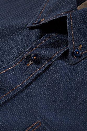 JP 1880 Homme Grandes tailles Chemise manches courtes bleu marine 3XL 705569 70-3XL