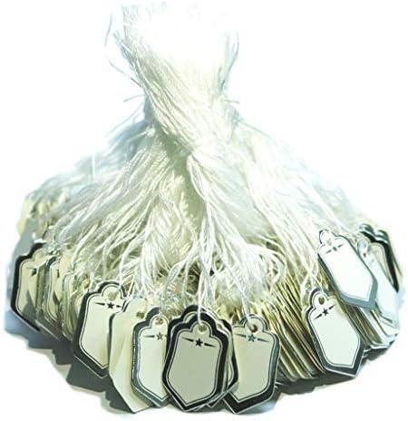 B Blesiya 500 stuks etiketten blanco voor sieraden artikelen kledingweergave 1 x 07 inch