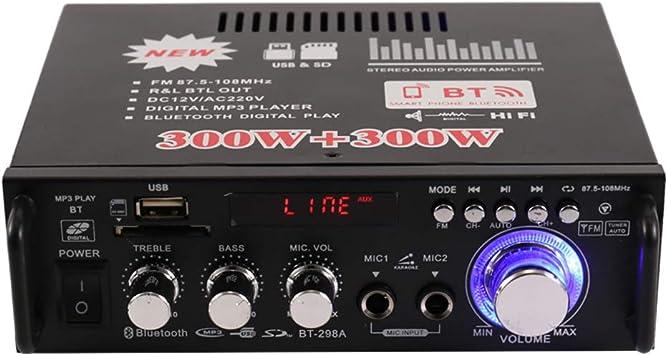 Festnight Mini Hifi Audio Stereo Leistungsverstärker Elektronik