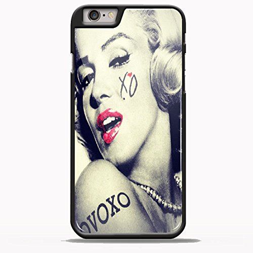Marilyn Monroe OVOXO Tattoo for iPhone 6/6s Plus Black case (50s Tattoos)