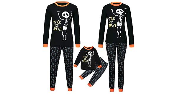 Laicai Pijama Familiar de Halloween, con Estampado de ...