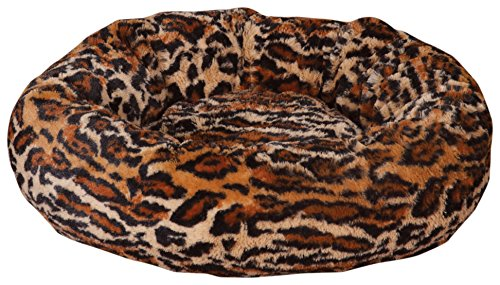 Bed Cheetah - Slumber Pet Cozy Kitty Beds  -  Cozy and Comfortable Polyester Beds for Cats, Cheetah