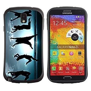 Be-Star Impreso Colorido Diseño Antichoque Caso Del iFace Primera Clase Tpu Carcasa Funda Case Cubierta Par SAMSUNG Galaxy Note 3 III / N9000 / N9005 ( Happy Dancing People )