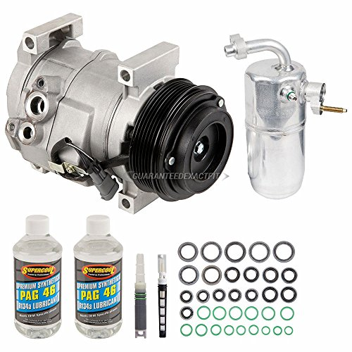 New AC Compressor & Clutch With Complete A/C Repair Kit For Chevy GMC Trucks 6.6 - BuyAutoParts 60-81579RK New ()
