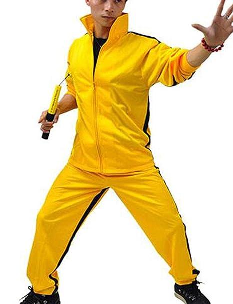 Kewing Bruce Lee Kung Fu Tai Chi Wushu Jeet Kune Do Uniforme De Entrenamiento Ropa Deportiva Sudadera + Pantalones 2 Piezas