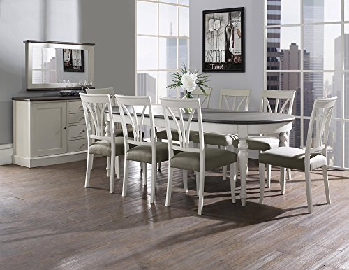 Coastlink Vegas Extension Dining Set - Heritage Cross Back Chairs (Set of 9 Pcs)