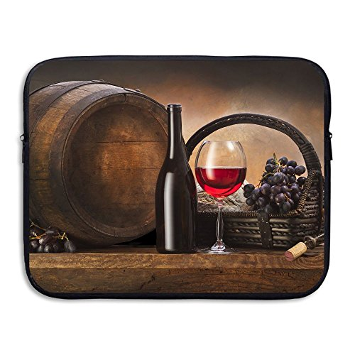 Creative Grapes Basket Red Wine Design Laptop Sleeve Case Protective Bag Briefcase Sleeve Bags Cover For 15 Inch Macbook /Ultrabook/Notebook/Laptop