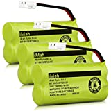 iMah Ryme B2-2 BT18433/BT28433 Phone Battery Compatible at&T and VTech BT18433 BT28433 BT184342 BT284342 BT183348 BT283348 T-T104 BT-1011 BT-1018 BT-1022 BT-1031 (Pack of 3)
