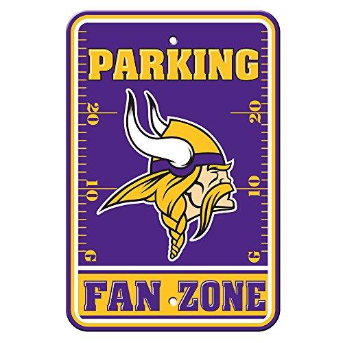Fremont Die NFL Minnesota Vikings Plastic Parking Sign - Reserved Parking