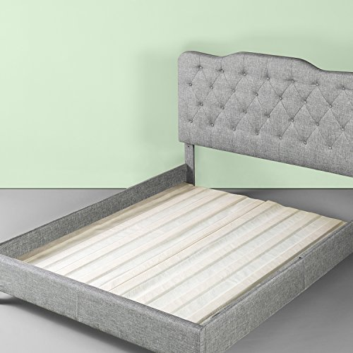 Zinus Annemarie Solid Wood Bed Support Slats / Fabric-Covered / Bunkie Board, Full