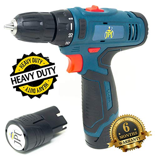 JPT HEAVY DUTY 12V CORDLESS DRILL/SCREW DRIVER WITH 2 BATTERIES 6