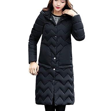 Manteau à Capuchon épais Femmes,Rembourré Blouson Long Parka