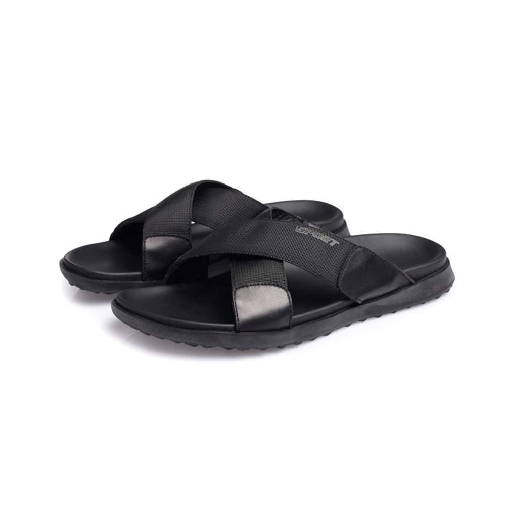 WHL.LL Herren britischer Stil Kreuz Hausschuhe Rutschfest Offener Offener Offener Zeh Lässige Schuhe Leicht Atmungsaktiv Draussen Flacher Boden Strandschuhe  9bbb4d