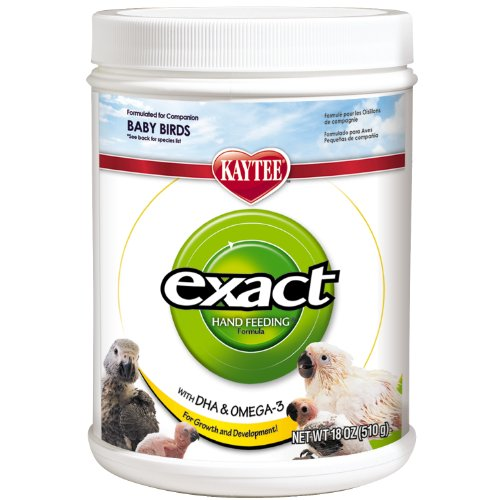 Kaytee Exact Hand Feeding for Baby Birds, 18 oz (Formula Kaytee)