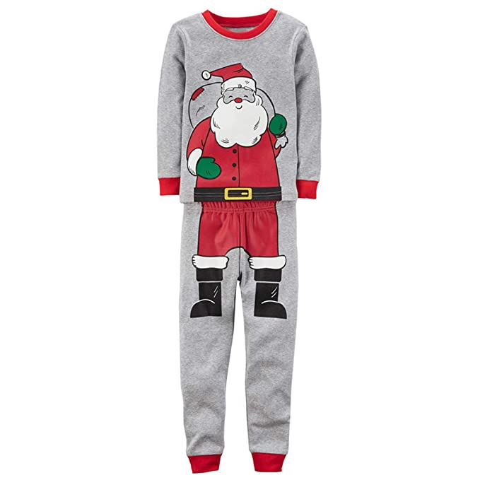 523929eb1a Amazon.com  Xinvision Boys Christmas Pajamas Sets Santa Pattern ...