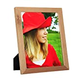 8x10 inch Picture Frame Made of Solid Wood High Definition Glass for Table Top Display and Wall mounting photo frame Natural