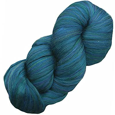 EASY SPINNING FIBER Combed Top Pencil Roving. Super Soft Merino Wool for Spinning, Felting and Weaving. Multi Colors - 4 Ounce Spruce