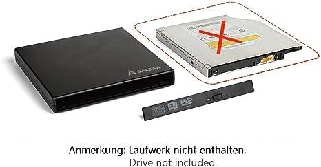Salcar - DVD Externo Adaptador Caja Carcasa para unidades de ...