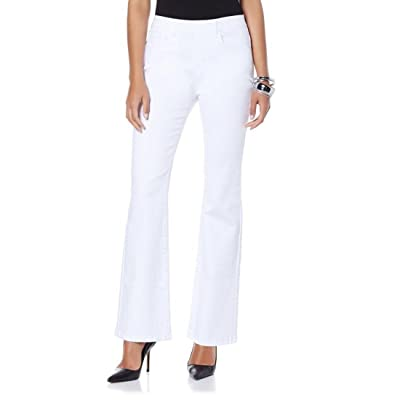 3DG2 Diane Gilman Super Stretch 5-Pocket Boot-Cut Jegging White PXS New 384-952