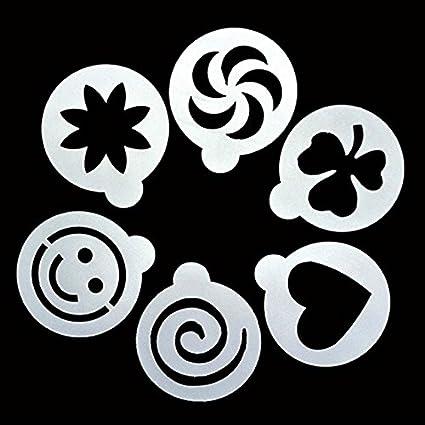 cappuccino emoji smile coffee stencils template barista strew
