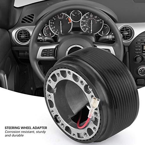 AMZVASO - 6-Bolt-Hole Steering Wheel Racing Hub Adapter for MAZDA 323 MIATA MX3 MX5 MX6 Aluminum