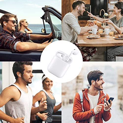 Wireless Earbuds Bluetooth 5.0 Headphones with 24Hrs Charging Case,IPX5 Waterproof Earbuds Built-in Mic Single/Twin Mode,3-D Stereo Earphones,Suitable for Airpods/iOS/Android/Samsung